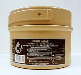 """3"""" x 2.5"""" MILITARY BURN WRAP SMALL CANISTER"""