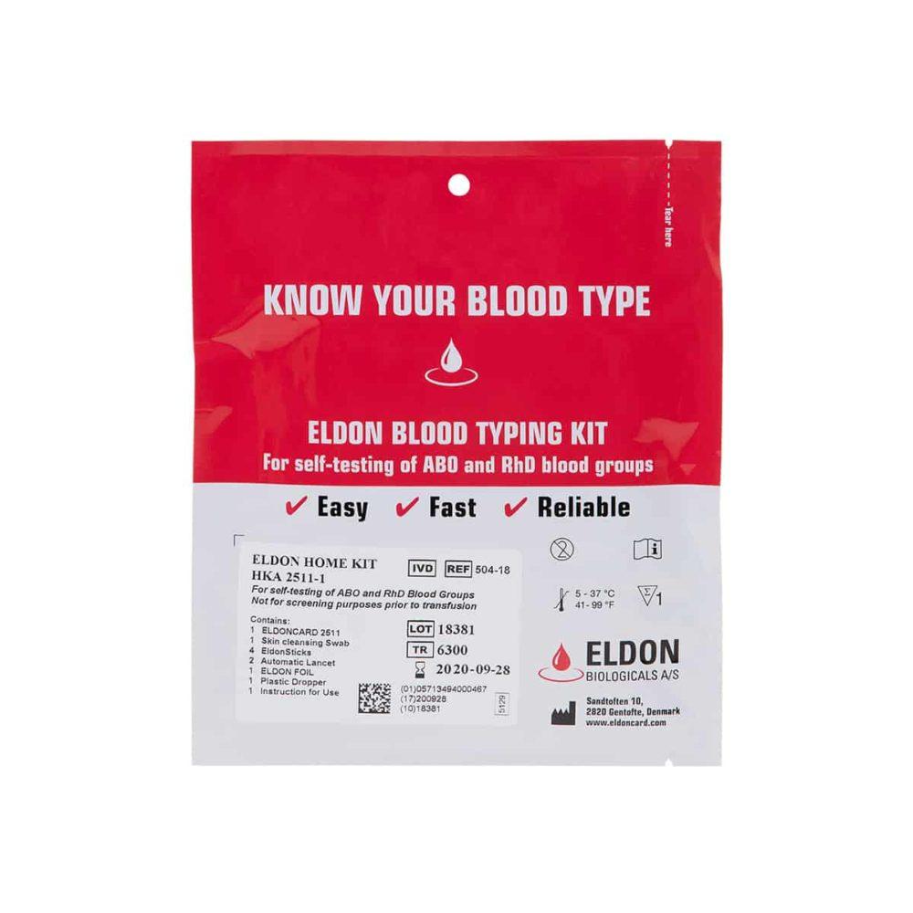 EldonCard® Blood Typing Kit