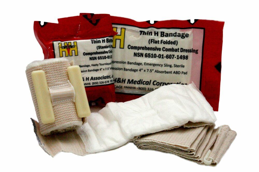 Thin H-Bandage Compression Dressing